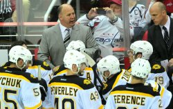 Bruins head coach Claude Julien in Washington