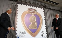 WALTER REED HOLDS PURPLE HEAR STAMP CEREMONY IN WASHINGTON