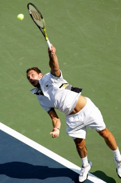 Michael Llodra and Tomas Berdych compete at the U.S. Open in New York