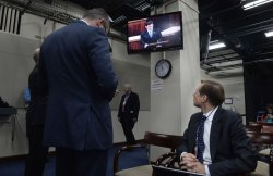 House Majority Leader Eric Cantor Leaves the House Floor in Washington, D.C.