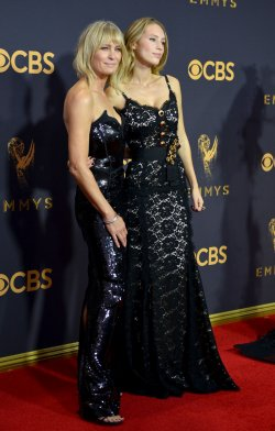 Robin Wright and Dylan Penn attend the 69th annual Primetime Emmy Awards in Los Angeles