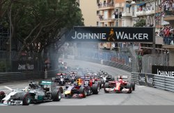 F1 racing during the Monaco Grand Prix