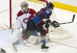 Avalanche Porter Scores Against Canadiens Goalie Price in Denver
