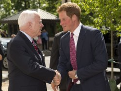 Prince Harry arrives on Capitol Hill in Washington