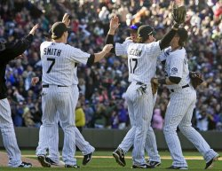 Rockies Celebrate Wild Card in Denver
