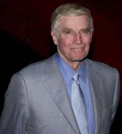 """CHARLTON HESTON ATTENDS FILM PREMIERE OF """"PLANET OF THE APES"""""""