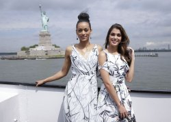 Miss Universe Iris Mittenaere visits the Statue of Liberty
