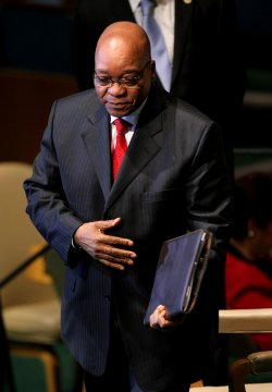 South Africa's President Jacob Zuma addresses the General Assembly at United Nations