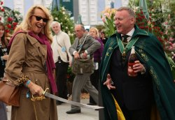 Jerry Hall at Chelsea Flower Show