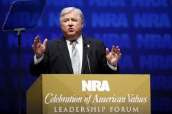 Gov. Haley Barbour speaks at National Rifle Association convention in Charlotte, North Carolina