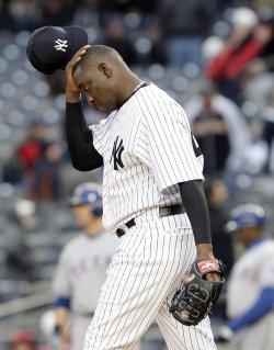 New York Yankees relief pitcher Rafael Soriano at Yankee Stadium in New York