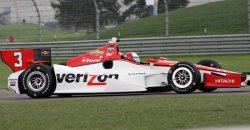 Indy winner Helio Castroneves tests new road course for inaugural Grand Prix of Indianapolis event at the Indianapolis Motor Speedway