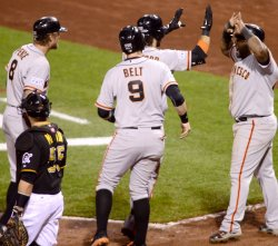MLB National League Wild Card Giants at Pirates