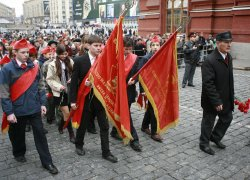 RUSSIAN CELEBRATE LENIN'S BIRTHDAY IN MOSCOW