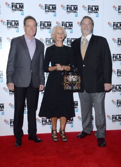 Bryan Cranston, Helen Mirren and John Goodman attend the 'Trumbo' Photocall in London