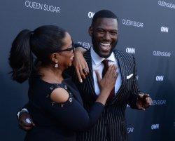 "Oprah Winfrey and Kofi Siriboe attend OWN's ""Queen Sugar"" premiere in Burbank, California"