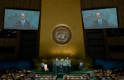 Mayanmar President Thein Sein addresses the 67th session of the General Assembly at the United Nations