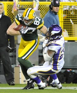 Packers Nelson brekas tackle on touchdown run in Green Bay, Wisconsin