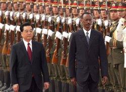 RWANDA PRESIDENT ATTENDS WELCOMING CEREMONY IN CHINA