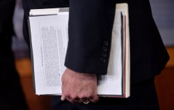 Senators hold a press conference on the VA Bill in Washington, D.C.