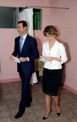 Bashar al-Assad Casts his Vote in the Syria Presidential Election