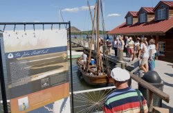 1608 CHESAPEAKE VOYAGE BOAT VISITS ALEXANDRIA, VIRGINIA