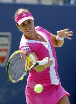 Anabel Medina Garrigues at the U.S. Open Tennis Championships in New York