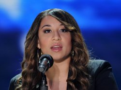 "Melanie Amaro wins ""The X Factor"" compettition series in Los Angeles"
