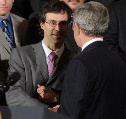 Bush hosts 2006-07 NHL Stanley Cup winning Anaheim Ducks at White House