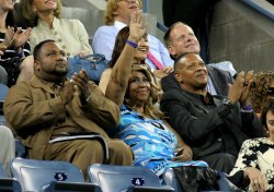 Aretha Franklin attends the U.S. Open in New York