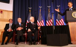 U.S. President Barack Obama delivers remarks to Threat Reduction symposium in Washington