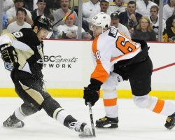 Flyers Jagr Scores Go Ahead Goal in 8-5 Win in Pittsburgh