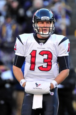 Texans' quarterback T.J Yates in Baltimore