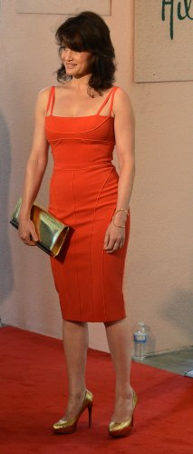 Carla Gugino attends the Hollywood Foreign Press Association installation luncheon in Beverly Hills, California