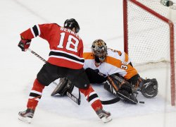 New Jersey Devils defeat the Philadelphia Flyers in Game 4 at the Prudential Center in New Jersey