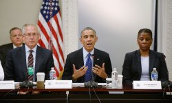 President Obama attends a meeting of the President's Export Council