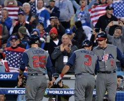 Ian Kinsler hits two-run homer during World Baseball Classic final in Los Angeles