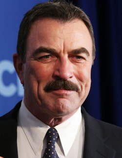 Actor Tom Selleck arrives at the 2010 CBS Up Front at Lincoln Center in New York