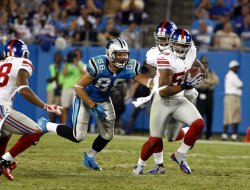 Carolina Panthers vs New York Giants in Charlotte, North Carolina
