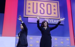 President Obama attends the 75th anniversary of the USO