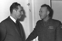 File Photo of Israeli Leader Shimon Peres And Chief Of Staff Yitzhak Rabin