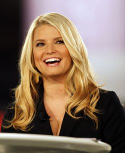 Jessica Simpson speaks at Night of the Village in Long Beach
