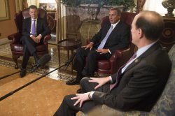 Speaker of the House John Boehner meets with Colombian president Juan Manuel Santos in Washington