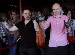 The Smashing Pumpkins inducted into Hollywood's RockWalk in Los Angeles