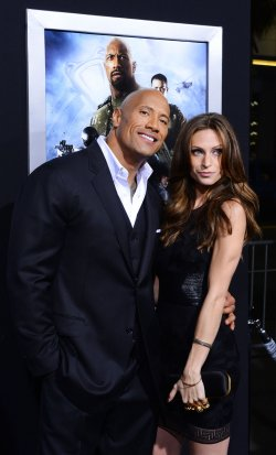 "Dwayne Johnson and Laura Hashian attend the ""G.I Joe: Retaliation"" premiere in Los Angeles"
