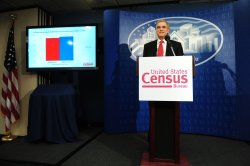 U.S. Census Bureau Director Robert Groves speaks on legislative redistricting results in Washington