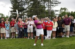 Yani Tseng of Taiwan plays in the final round of the Wegmans LPGA Championship at Locust Hill Country Club in New York
