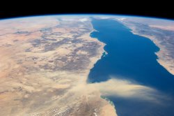 Egyptian dust plume over the Red Sea