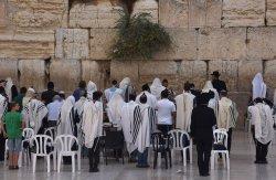 Jews Pray Before Rosh HaShanah At The Western Wall, Jerusalem