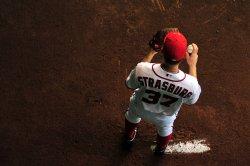 Nationals pitcher Stephen Strasburg in Washington